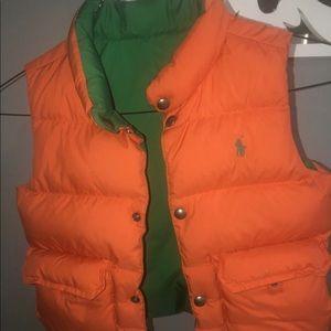 Boys Ralph Lauren thermal vest reversible .